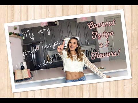 LOW CARB Keto Coconut Fudge Recipe x 2 Flavors!