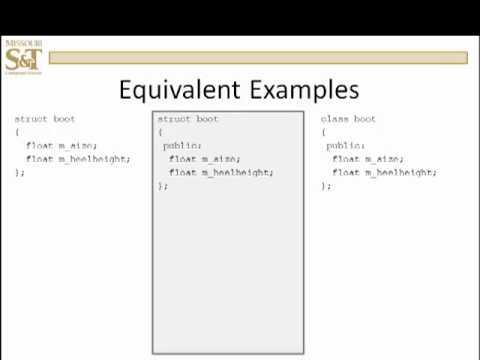 C++ Lesson 15.6 - Structs vs Classes