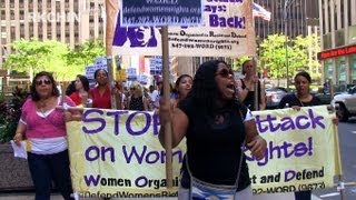 August 26 2012 WORD March NYC - Women Organized to Resist & Defend - feminism