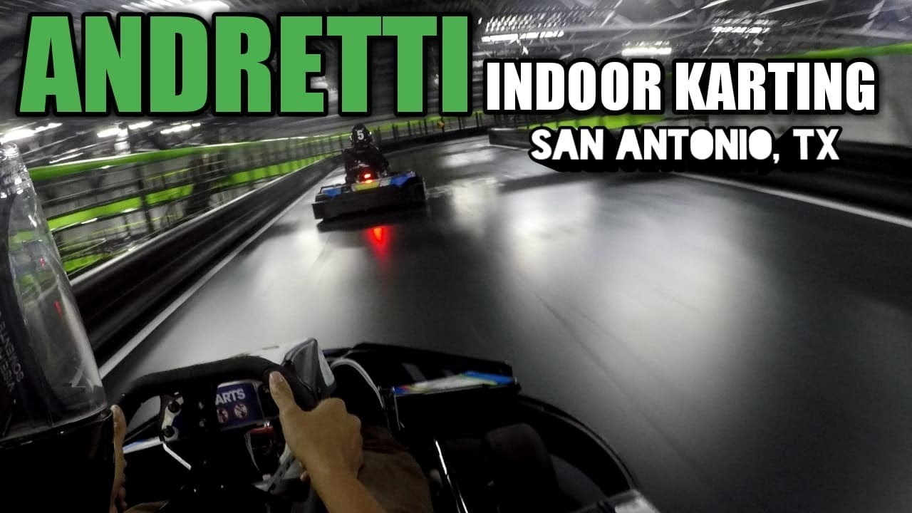 Racing Electric Go Karts At 35 Mph Andretti Indoor Kart
