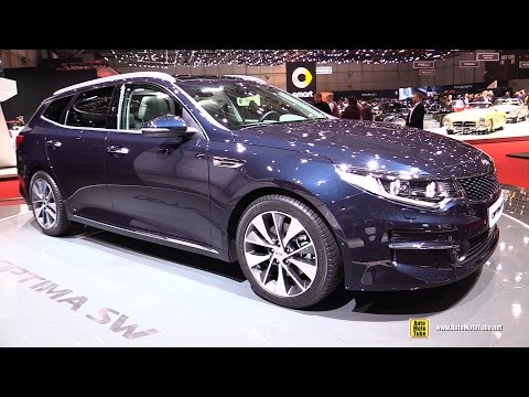 2017 KIA Optima SW SportWagon Exterior and Interior Walkaround Debut at 2016 Geneva Motor Show