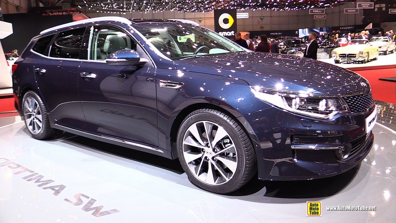 2017 kia optima sw sportwagon exterior and interior walkaround debut at 2016 geneva motor. Black Bedroom Furniture Sets. Home Design Ideas