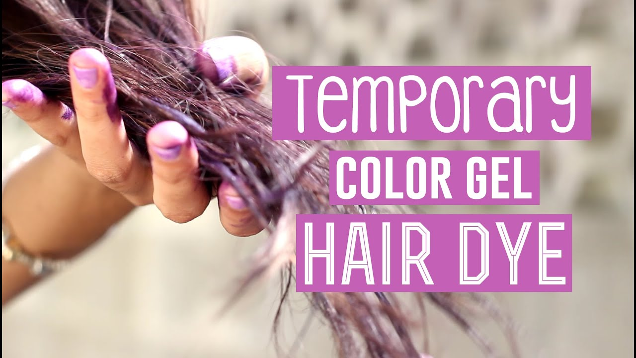 Temporary Purple Color Gel in Dark Hair (FAIL) □ 1K SUBSCRIBER ...