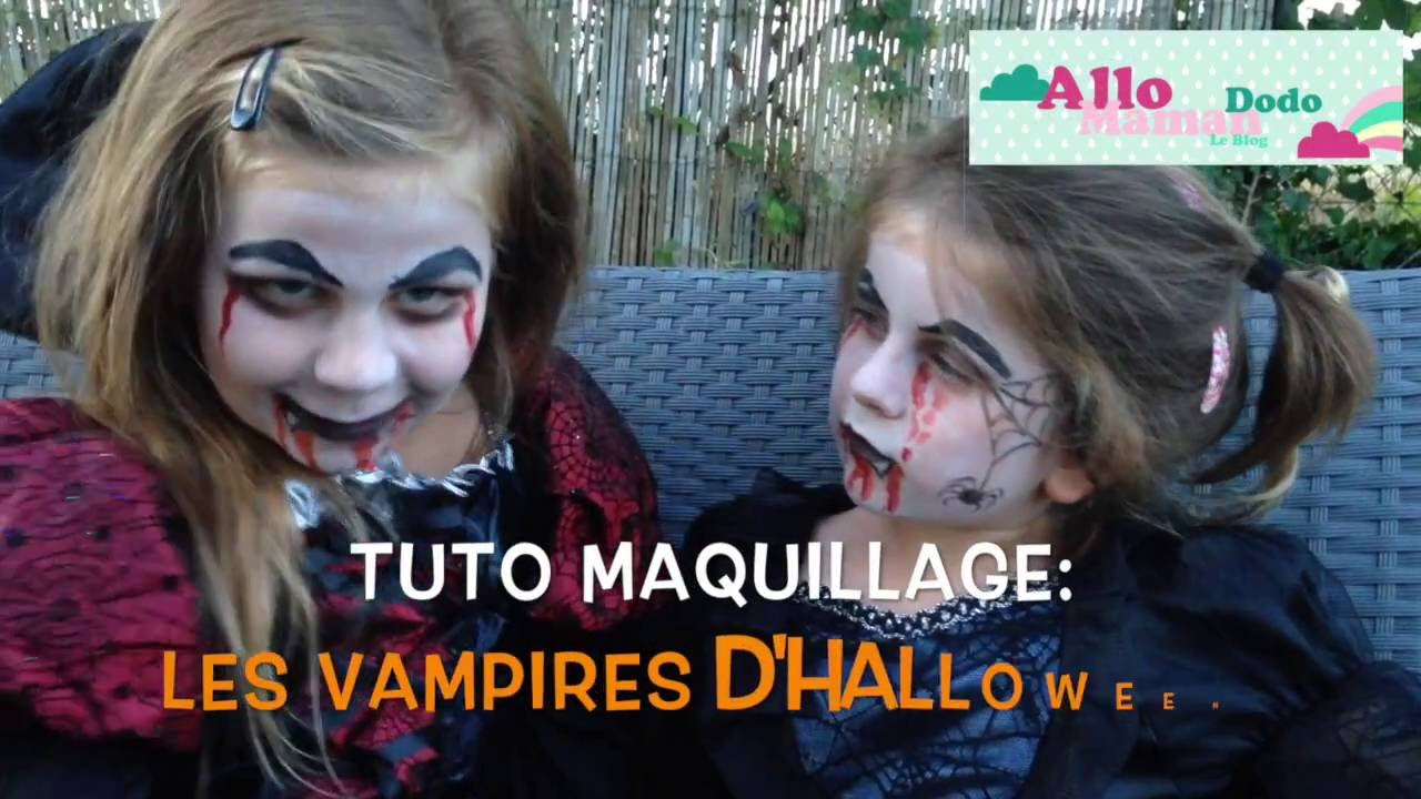 tuto maquillage enfant pour halloween vampire et reine des araign es youtube. Black Bedroom Furniture Sets. Home Design Ideas