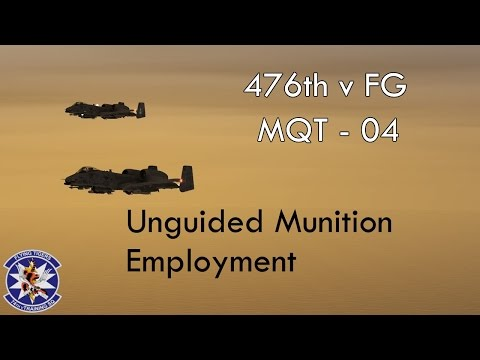 476th vFG - MQT - 04 - Unguided Munition Employment