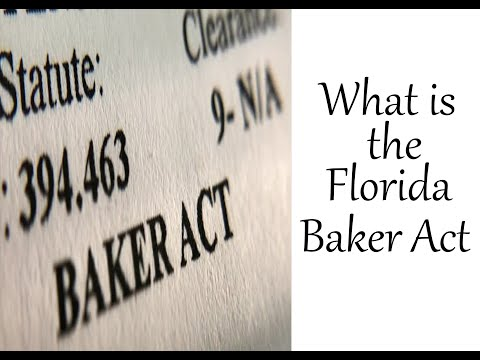 What is the Florida Baker Act?