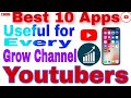 Best 10 Useful Apps for every Youtubers | Youtubers creators | Youtubers ke liye Best Apps Mobile: Best 10 Useful Apps for every Youtubers | Youtubers creators | Youtubers ke liye Best Apps Mobile  Hi I am Aryan Sharma  Welcome to our youtube Channel Group Tips  About this Video- Dosto Aaj ki is Video me Maine Aapko Best 10 Useful Apps ke Bare me Bataye Hai ye Apps Ek youtubers ke liye Bahut Important Hai ummeed Hai Aapko ye Video Bahut pasand Aayegi  Thank you so Much............  👇 Like.....Share.....Suppout.....Subscribe....   Our some other videos playlist  YouTube learning-https://www.youtube.com/playlist?list=PLs9l_JTihdIvaLJOKDzGpNcC9DU8VND50 Game khelo paise kamaye-https://www.youtube.com/playlist?list=PLs9l_JTihdIu_mKZjAyO53_d2A50GxGTj Facebook tutorials-https://www.youtube.com/playlist?list=PLs9l_JTihdIu_mKZjAyO53_d2A50GxGTj Photo editing tutorial-https://www.youtube.com/playlist?list=PLs9l_JTihdItPvpp3gm7pcZfvqB9IdJwp Business plan-https://www.youtube.com/playlist?list=PLs9l_JTihdItPvpp3gm7pcZfvqB9IdJwp  #youtuberscreators #Grouptips #Bestcameraappforyoutubers #youtubers #Bestvideoeditingappforyoutubers