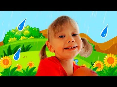 المطر المطير الذهاب بعيدا الحضانة قافية كلمات للأطفال