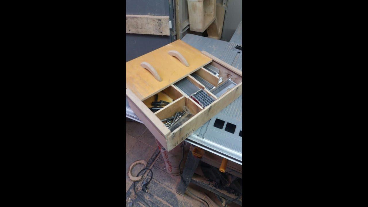 Cassetto portaminuterie in legno fai da te tutorial for Youtube legno fai da te