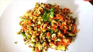 Mung Bean Sprouts 'n Mango Salad| Kosambari| Healthy Vegan Recipe