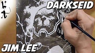Jim Lee drawing Darkseid during Twitch Stream