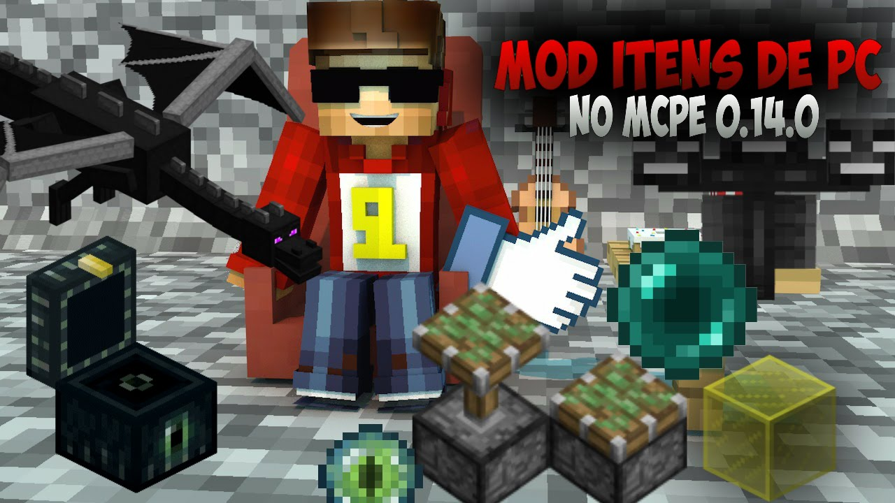Mod PC A PE Mod Que Adiciona Itens do Minecraft 1.9 Para O Mcpe Minecraft PE 0.14.0 MCPE 0.14.0