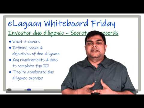 Investor due diligence - Secretarial records [Whiteboard Friday]