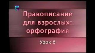 Русский язык. Урок 6. Правописание