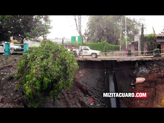 Así luce el puente de la Barranca del Diablo de Moctezuma en Zitácuaro