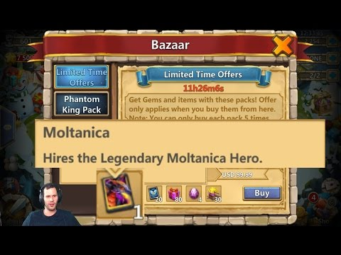 You Can Buy 5 Moltanicas On Android BazaaR? Craziness! Castle Clash