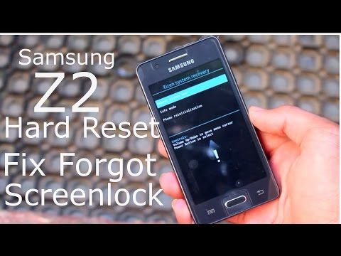 Samsung Z2 Hard Reset / Factory Reset Fix Forgot Screen Lock
