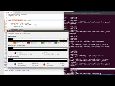 Mutex Synchronization in Linux with Pthreads