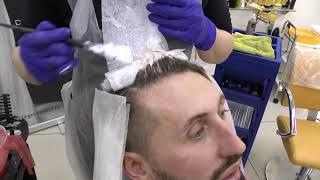 Окрашивание волос в холодный блонд ARTEGO / Артего. Затемнение корней