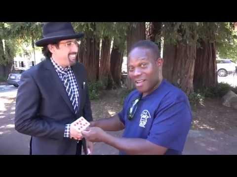 Magician blows away Sportscaster Vern Glenn in Mill Valley, Jay Alexander
