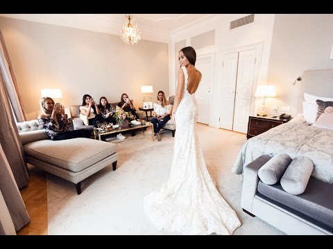 TRYING ON WEDDING DRESSES WITH MY BRIDESMAIDS - Follow me around vlog