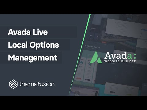 Avada Live Local Options Management Video