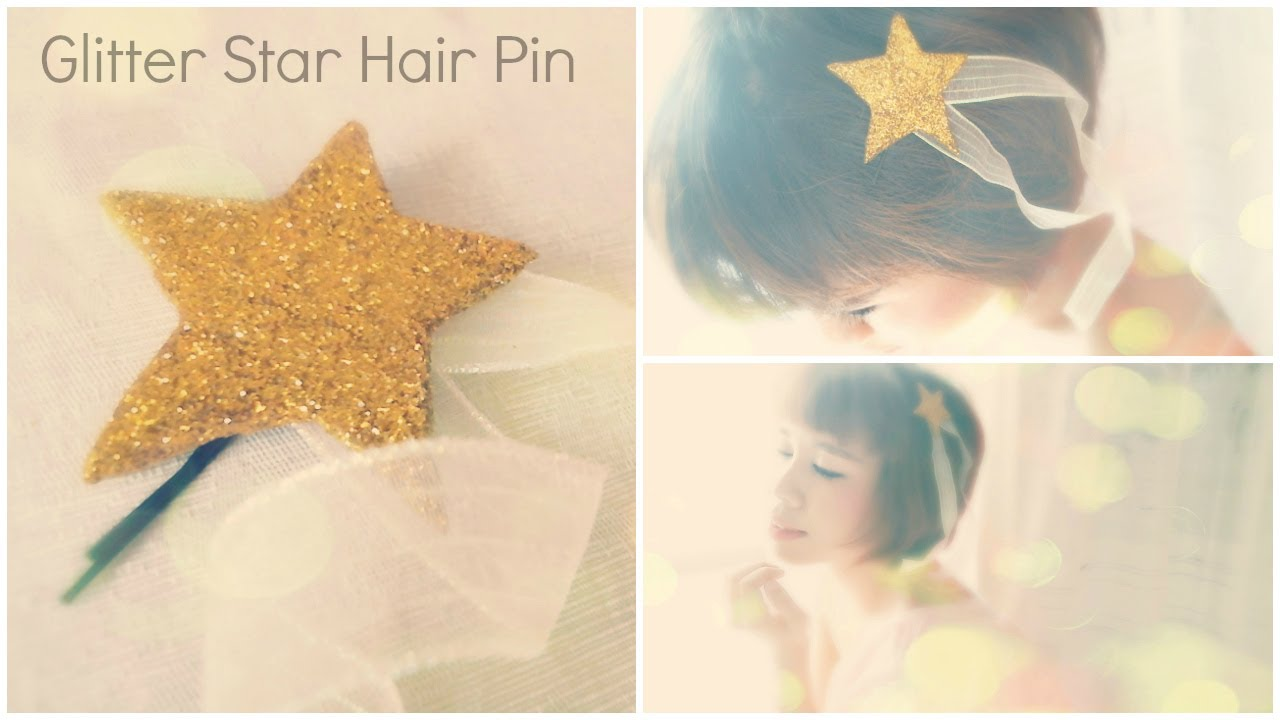 DIY Hair Accessories: Felt Glitter Star Hairpin Tutorial - YouTube