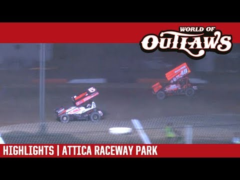 World of Outlaws Craftsman Sprint Cars Attica Raceway Park July 11, 2017 | HIGHLIGHTS