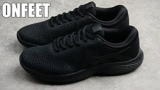"""Nike Revolution 4 """"All Black"""" Onfeet Review 