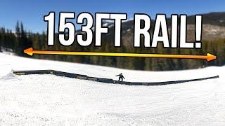 153ft SNOWBOARD RAIL!