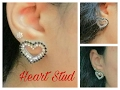 How To Make paper base| Heart Shape Earring Stud (Valentine's day Special) At Home - Tutorial