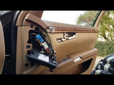 Mercedes S-Class W221 Driver door controls not working. Diagnosis fault finding and repair.