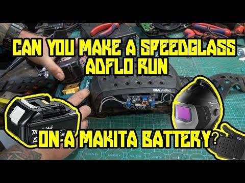 Can a speedglass adflo run off a 18v makita battery ? | Makita Powered welding respirator mod