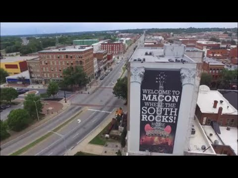 downtown Macon Ga drone footage