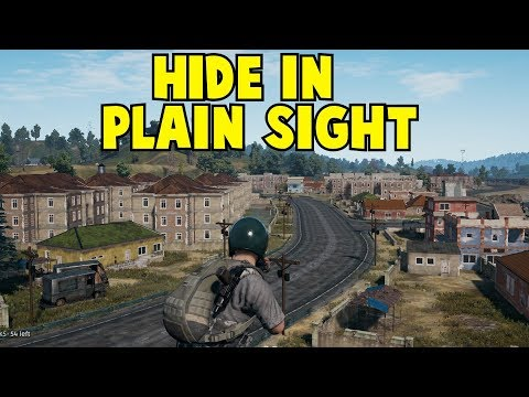 Hide In Plain Sight!  Playerunknown's Battlegrounds