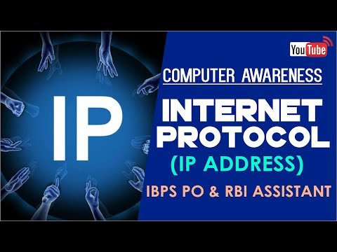 RBI ASSISTANT & IBPS PO | Internet Protocol (IP Address ) | Computer Awareness