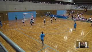 5日 ハンドボール女子 国体記念体育館Cコート 飛騨高山×郡山女子大附 1回戦 2