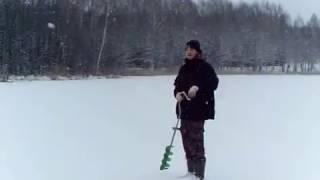 Зимняя рыбалка на Озере Светлояр .нижегородская обл.Ноябрь.Окунь на блесну.