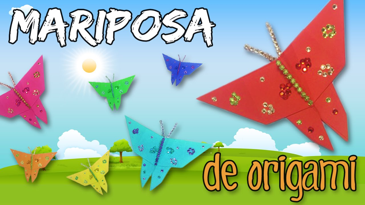 origami o papiroflexia f cil para ni os mariposa de