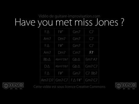 Have you met Miss Jones : Backing Track
