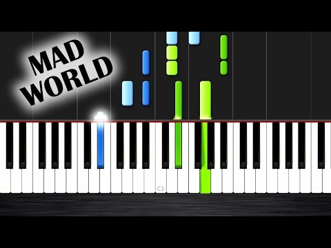 how to play mad world on piano easy