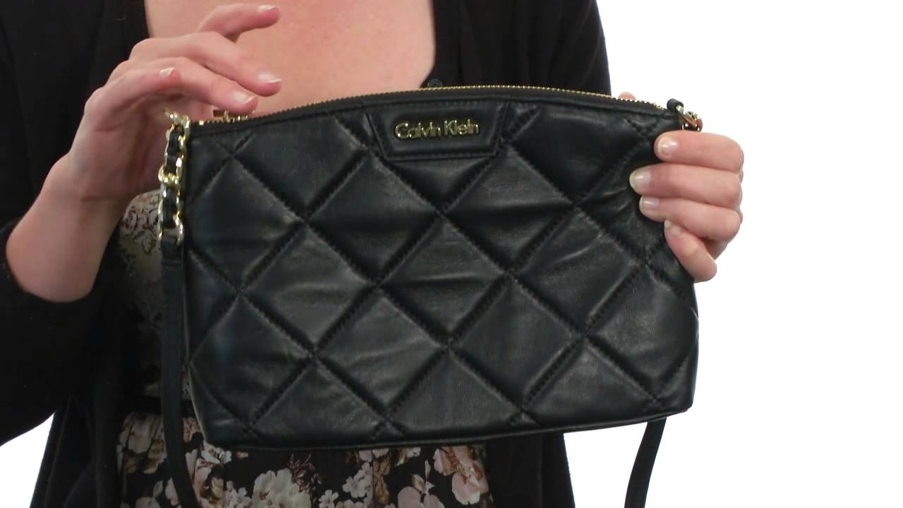 Calvin Klein Lamb Crossbody SKU:#8417002 - YouTube : calvin klein quilted leather crossbody bag - Adamdwight.com