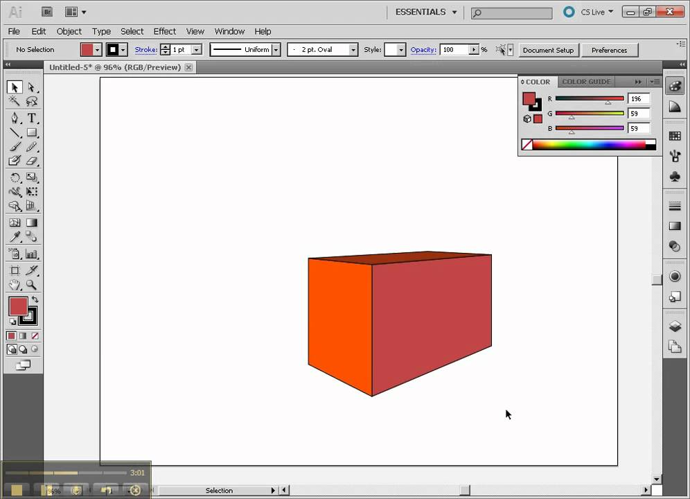 Drawing 3d Part3 Boxes With Perspective Tool In