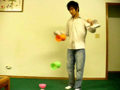 Two Yoyo Juggling + Speed Up Tut