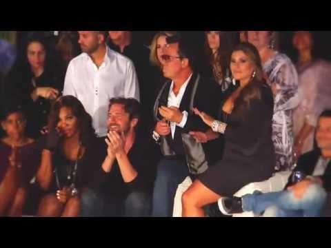 Gerard Butler at the Vogue / Yves Saint Laurent Fashion Show in Miami Beach 2010