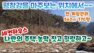 토지 118번: 563㎡(170평)강가 조망 낮은 산자…