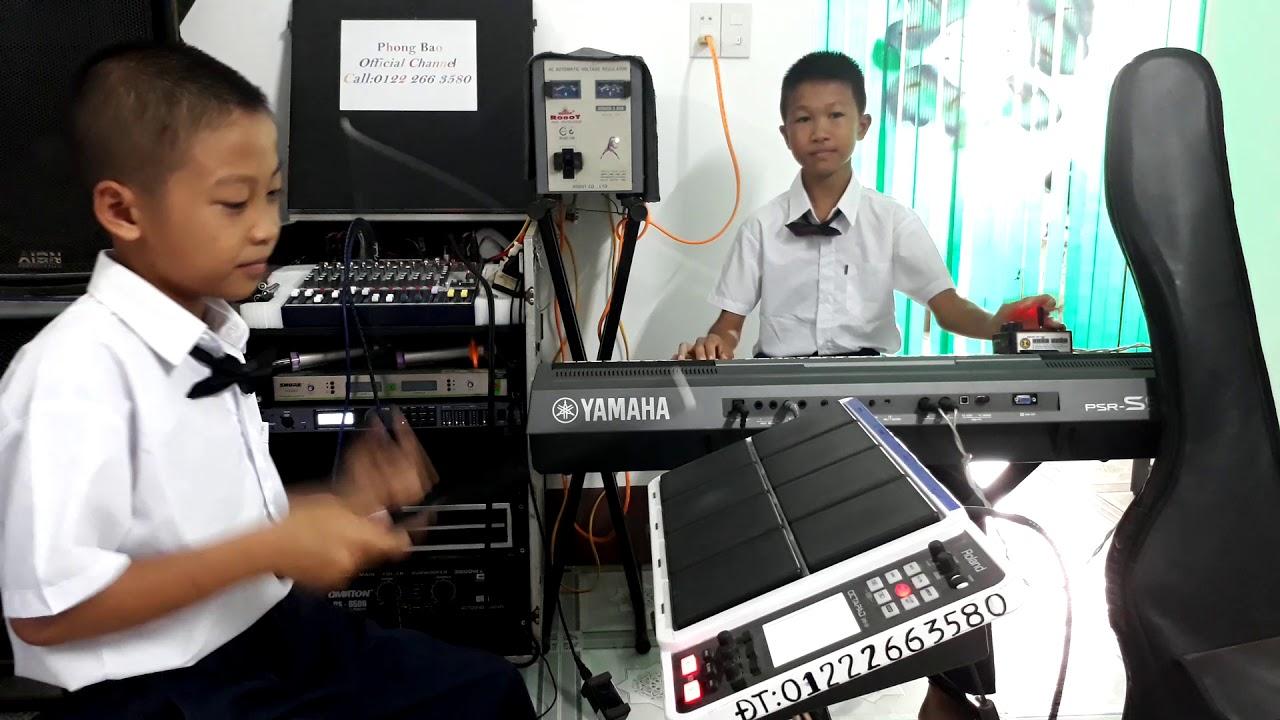 Hình Bóng Quê Nhà [Hòa Tấu + KARAOKE BEAT - Electric Drum Version] - Nhạc sống Phong Bảo