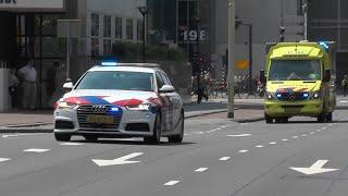 Politie zet kruisingen af voor begeleiding Kinderambulance naar het EMC #1320