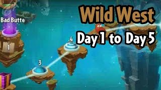 Plants vs Zombies 2 - Wild West Day 1 to Day 5