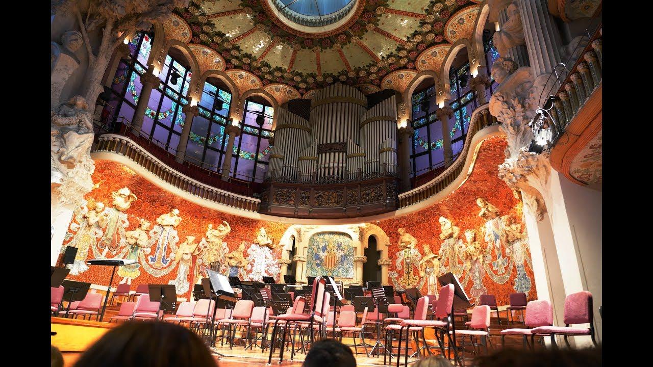 Palau De La Musica Catalana La Boheme De Puccini In 4k Youtube